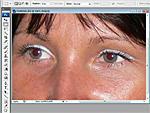 Hogyan t�ntess�k el a piros-szem effektet Photoshopban? r�szlet