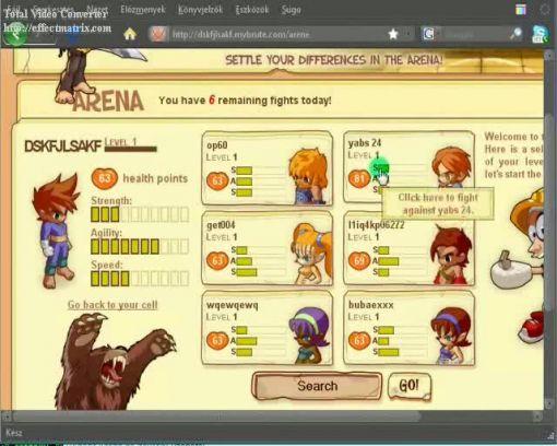 hogyan játsszuk a mybrute nev04 internetes harci játékot?