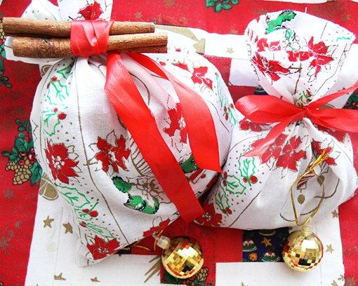 Karácsonyi ajándék illatzacskó készítés