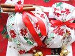 Karácsonyi ajándék illatzacskó készítés részlet