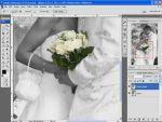 Esküvõi képek szerkesztése 4.rész: Csak a virág színes részlet