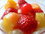 Gyümölcsös tejbegríz desszert készítése részlet