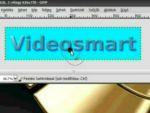 Gimp: Áttetsző, 3D-s betűk készítése részlet