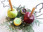 Karácsonyi gyertyatartó készítés természetes anyagokból részlet