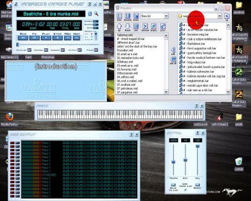 Karaoke Windows alatt a vanBasco's Karaoke Player