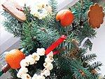 Karácsonyfadísz készítés természetes anyagokból részlet