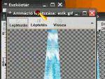 Animation Shop 3: Vízesés animáció készítése részlet