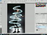 Adobe Photoshop: Térhatású vonalas effekt készítés egyszerűen részlet
