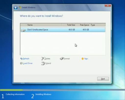 Windows 7 opercis rendszer teleptse windows 7 opercis for Windows 7 bureau vide