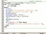 Programozás Pascalban: Fájlkezelés - 4. rész, Szöveg csatoló eljárás részlet