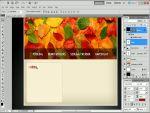 Őszi weboldal készítése Photoshopban részlet