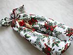 Dupla üveges ajándék csomagolása karácsonyra részlet
