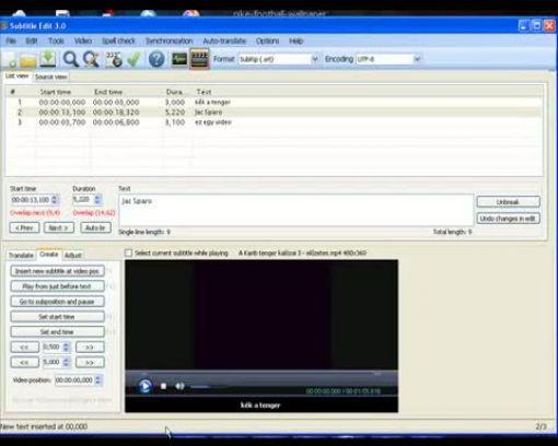 d9af5a2cd1 A Subtitle Edit nevű programmal feliratokat készíthetünk videókhoz. Ennek a  menetét mutatom meg.