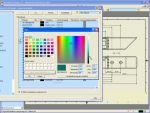 Autodesk Inventor: Rajzi elemek színezése részlet