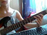 Egyszerû blues dallam gitárra részlet
